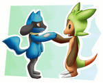 Chespin and Riolu