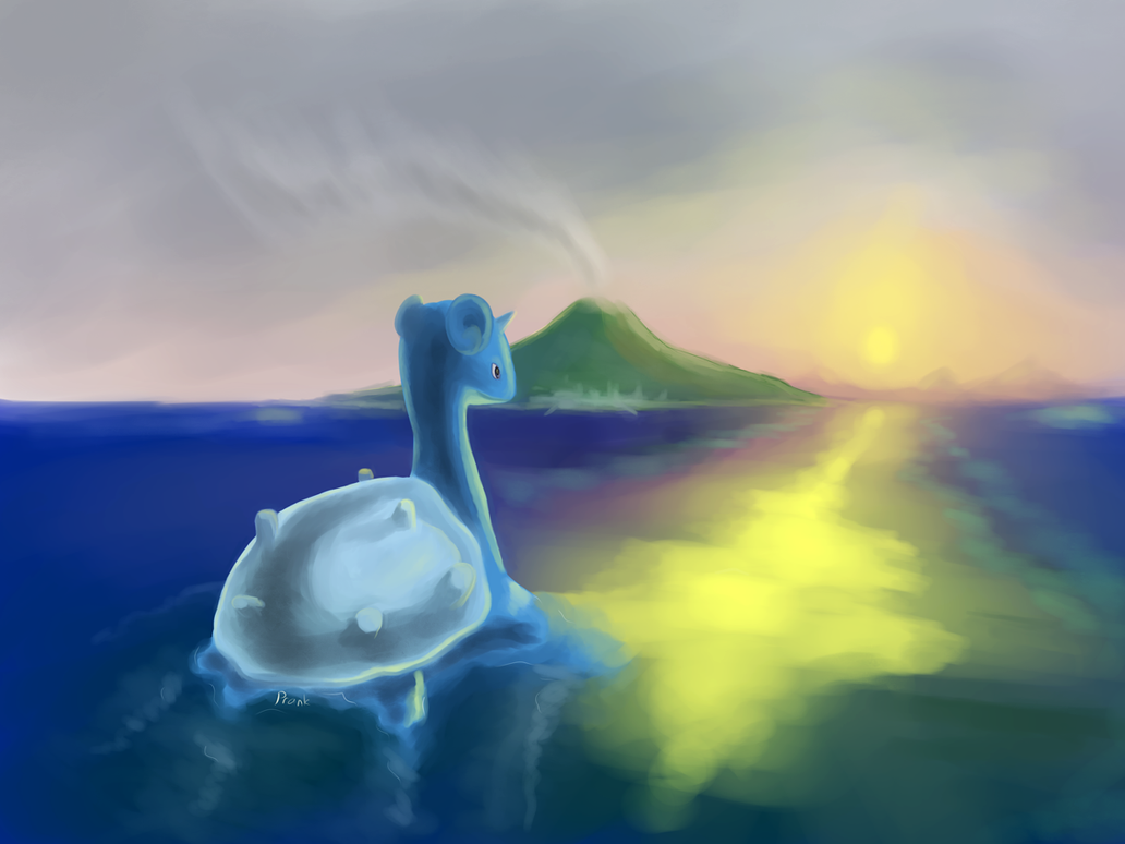 Lapras Surfing to Cinnabar Request by prankster-kun
