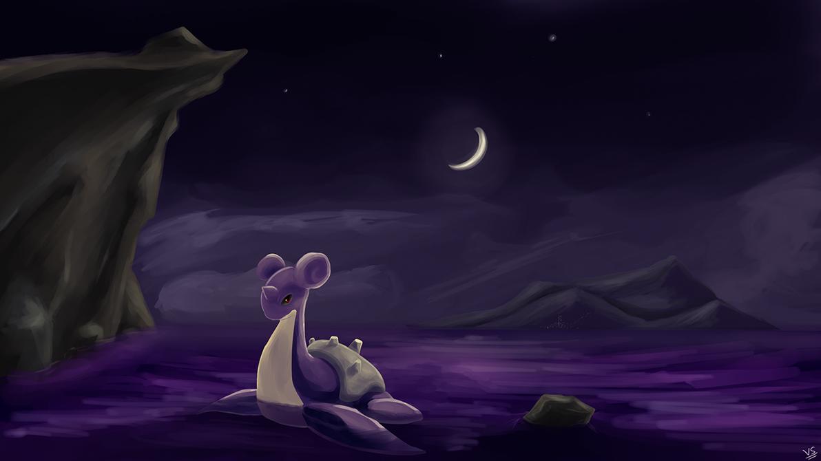 Lapras at Night by prankster-kun