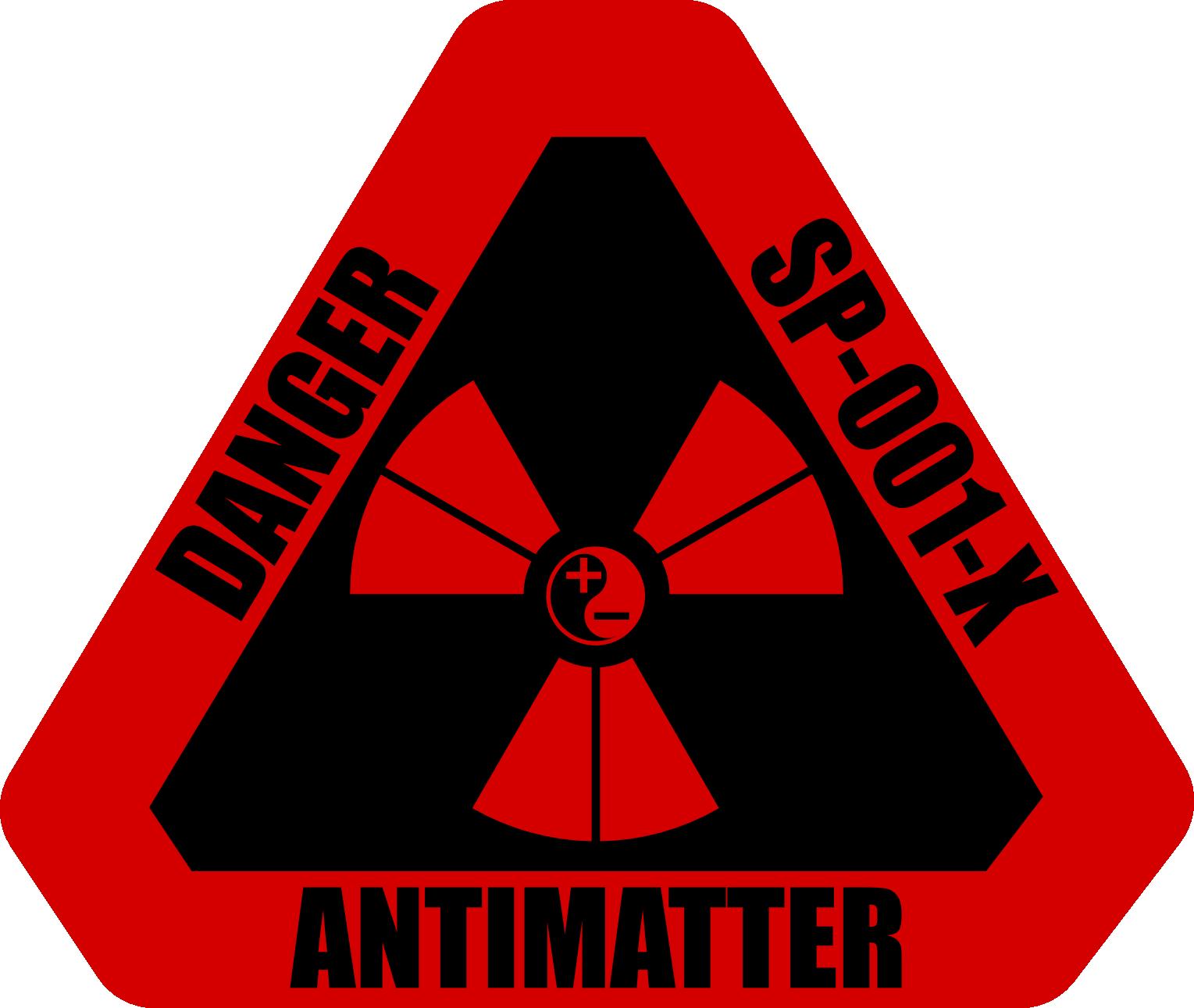 Antimatter Warning Label