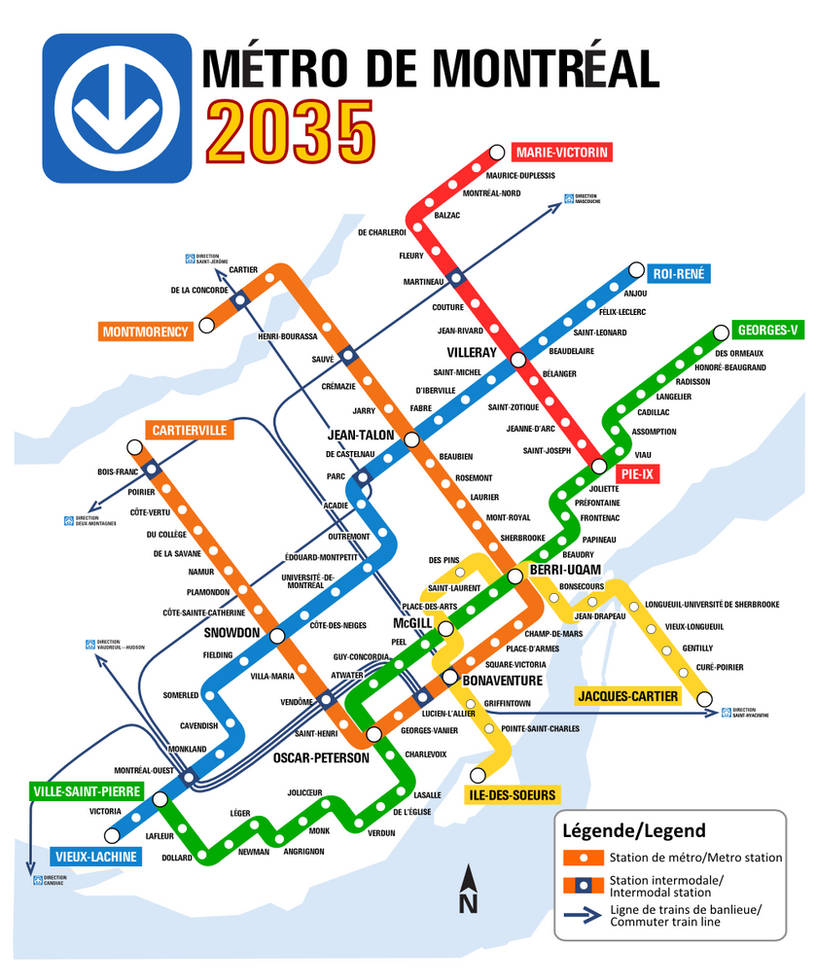 Montrela Subway Map.Montreal Metro A Vision Of A Possible Future By Aliensquid On