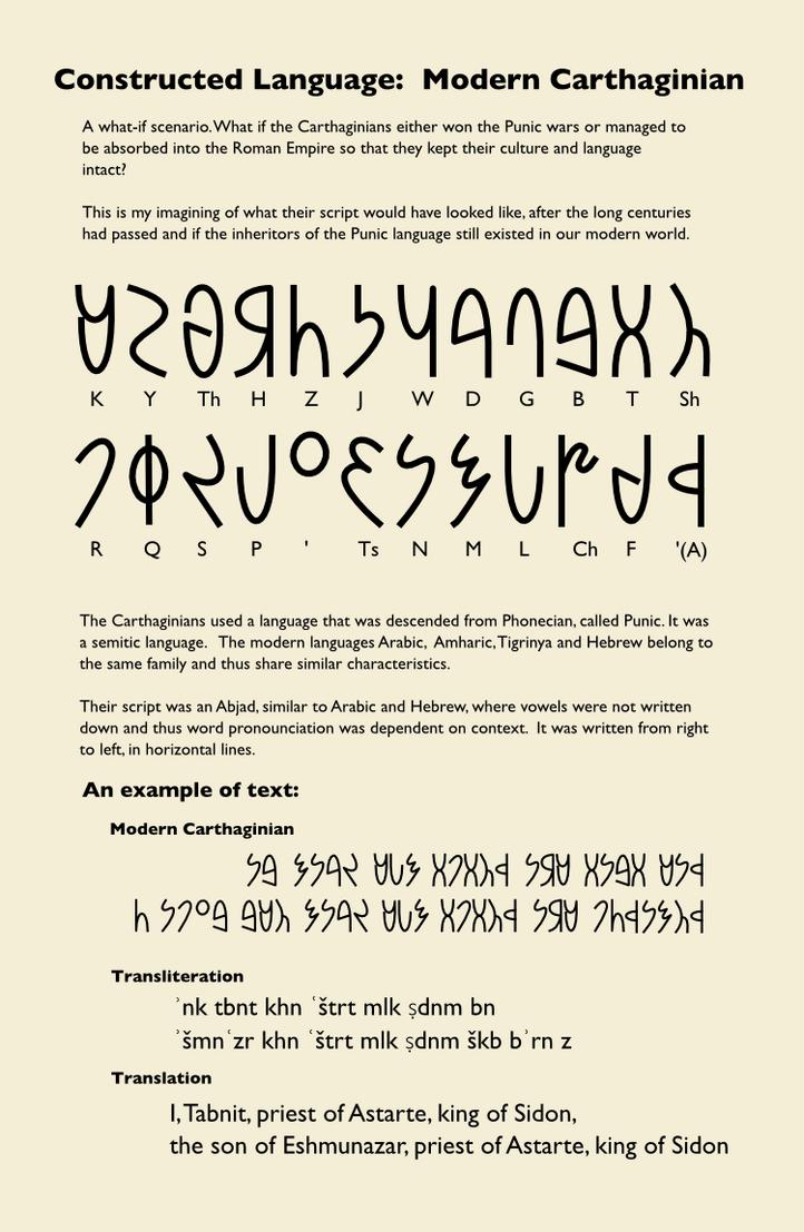 Alt Reality - Modern Carthaginian Alphabet by AlienSquid