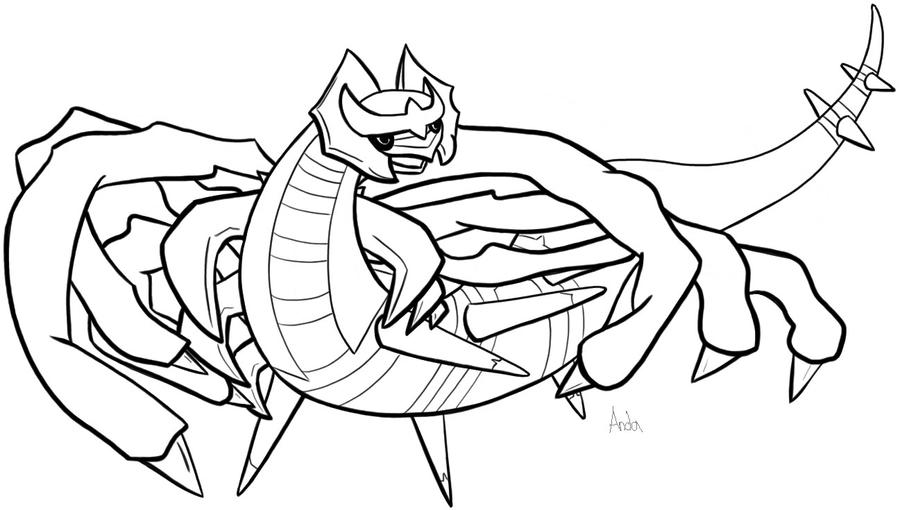 coloring pages giratina - photo#32