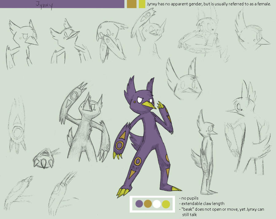 Jynxy's Mini Reference Sheet by Flanngo