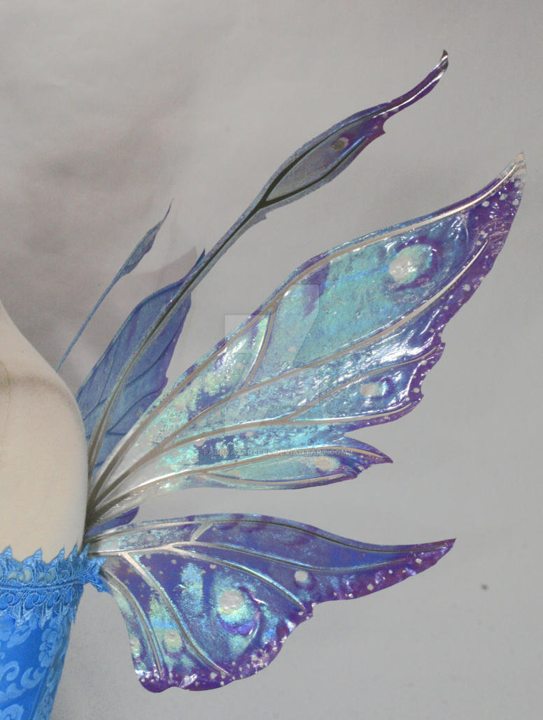 Azarelle Wings Wedding Blue2 by FaeryAzarelle