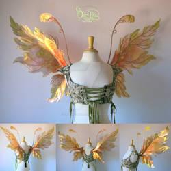Acorn Leafy Iridescent Fairy Wings