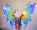 Fairy Marie's Custom Giant Rainbow Wings