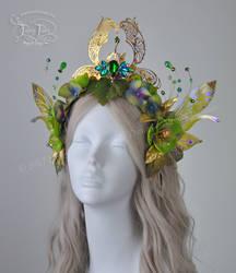 Green Absinthe Fairy Queen Crown