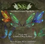 Fancy Fairy Teasel Stock Fairy Wings Stock PNGs by FaeryAzarelle