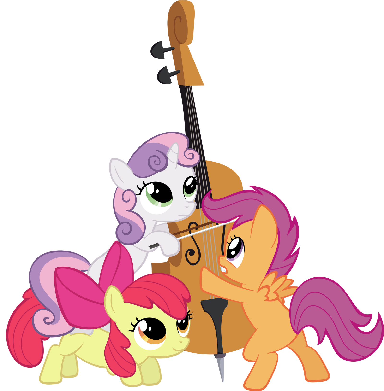 Cutie Mark Crusaders Cellists! YAY! by lykas13