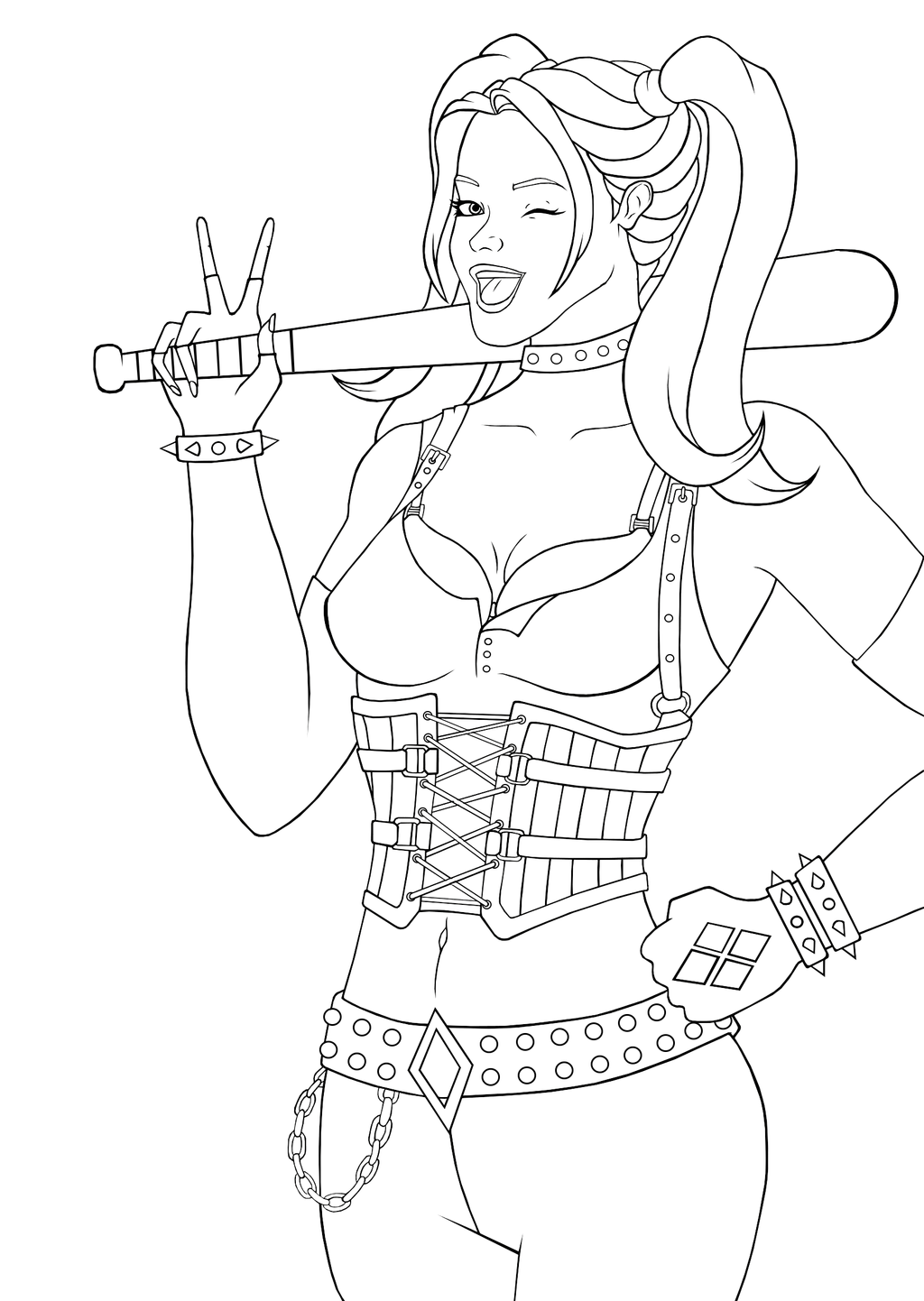 harley quinn coloring pages - photo#22