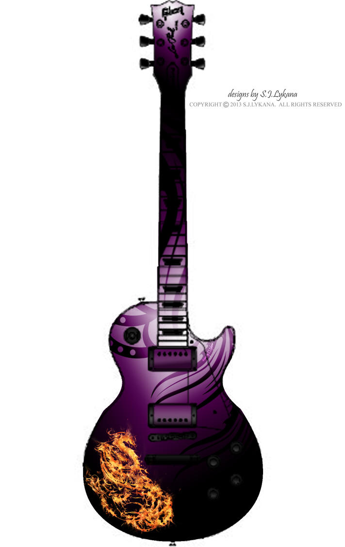 Guitar Designs Art : Purple phoenix guitar design by sj lykana on deviantart