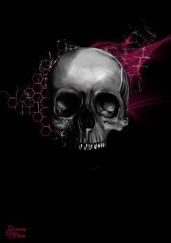 Grey Death Skull Design