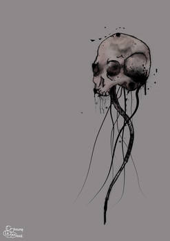 Grey Tentacle Skull