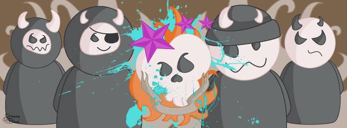 Kawaii Skull Gang Design