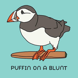 Puffin on a blunt  by atomicvector