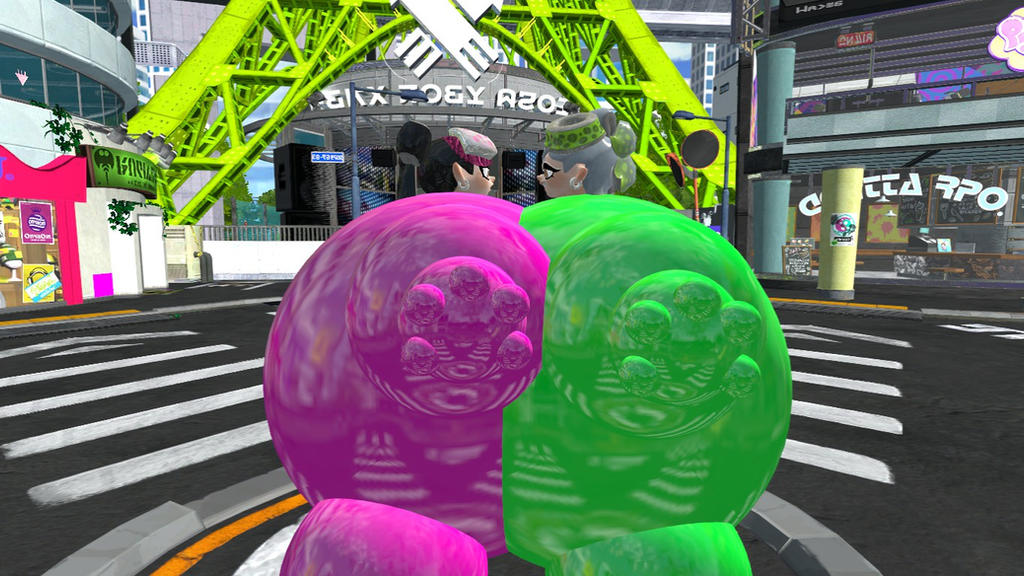 Squid Sisters' Ultimate Balloon Suit Fight By Sergy92 On