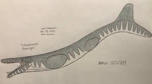 Tylosaurus proriger by kumarkiranb356