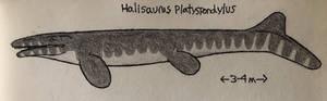 Halisaurus impression