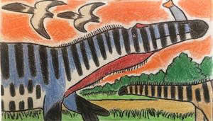 Suchiomimus in the Swamp