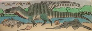 A Swimming Spinosaurus