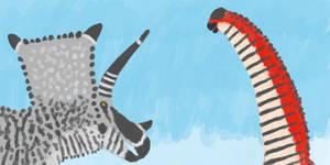 Alamosaurus vs Bravoceratops