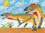 Allosaurus jimmadseni on the move