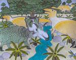 Spiclypeus with Brachylophosaurus