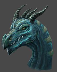 Dragon study by Saddast
