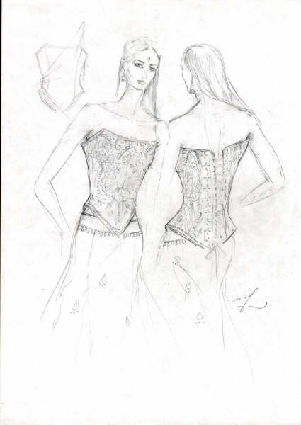 fashion sketches 2003 -3 by FVAD