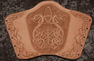Viking Dragon Bracer - WIP