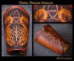 Viking Dragon Bracer - WIP2