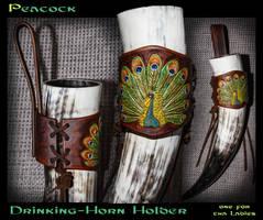 Peacock - Drinking Horn Holder