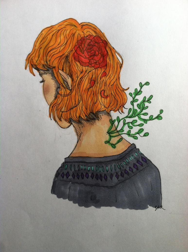 Garden Girl by moonpiefsn