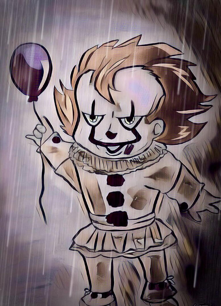 Pennywise in the rain by wrightmother