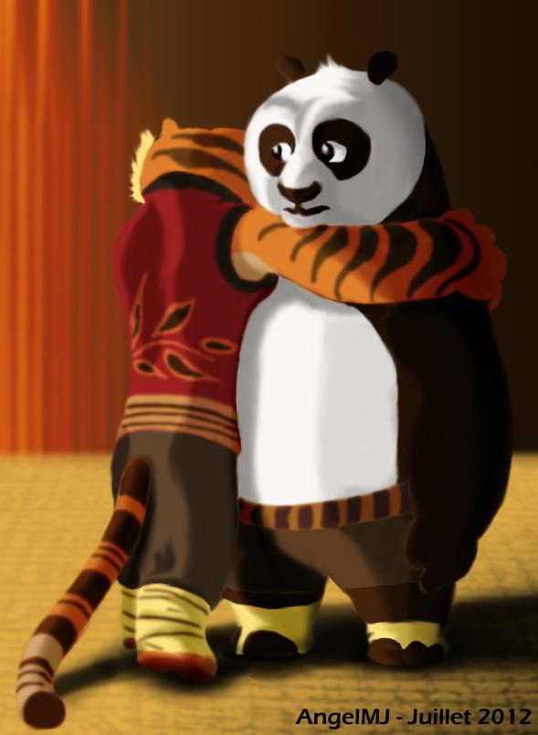 kung fu panda po and tigress by angelmj