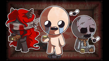 The Binding of Isaac : Lilith and Keeper by AngelMJ