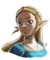 Gift : Zelda BotW Sketch by AngelMJ