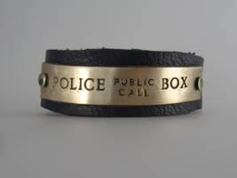 Tardis Cuff - Police Call Box by Peaceofshine