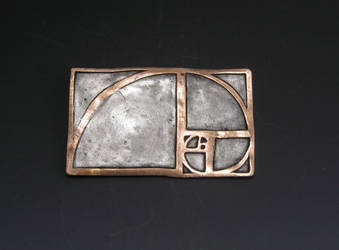 Fibonacci spiral pendant by Peaceofshine