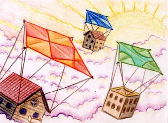 Skykites city by SaintHeiser