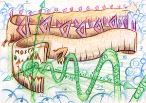 Math Dragon measures sky