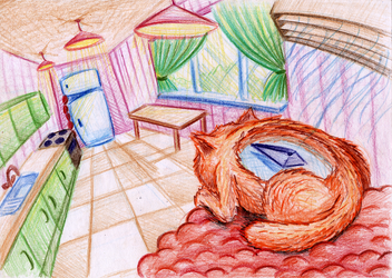 Cat-Compass point to the food by SaintHeiser