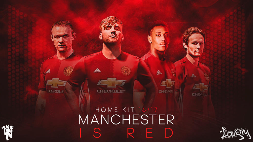 manchester united home kit wallpaper by couqnydesigns on deviantart manchester united home kit wallpaper by