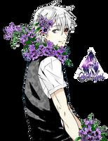 Kaneki Ken Tokyo Ghoul Render by celestialwizzard