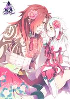Koujaku y Aoba Dramatical Murder Render by celestialwizzard