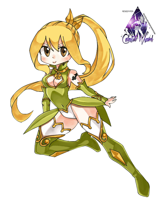Lucy Heartfilia Chibi|Fairy Tail Render by celestialwizzard