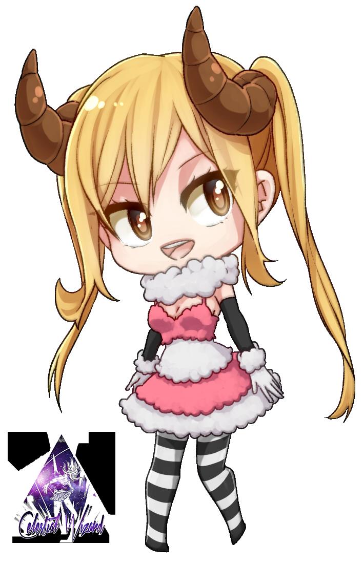 Lucy Heartfilia Chibi Fairy Tail Render #3 by celestialwizzard