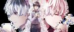 Kaneki Ken y Sasaki Haise Tokyo Ghoul: re Render by celestialwizzard