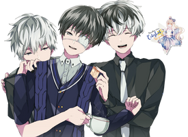 Kaneki Ken y Sasaki Haise Tokyo Ghoul: re Render#2 by celestialwizzard